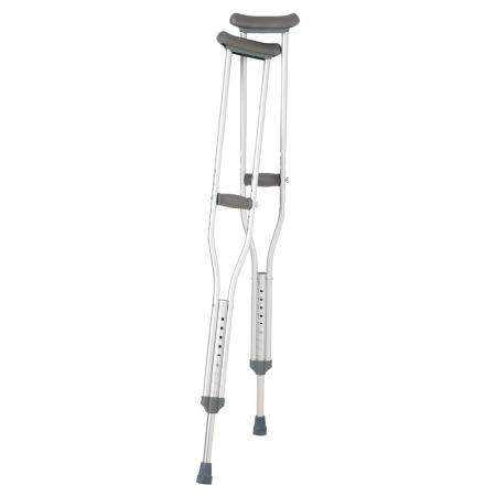 Aluminum Push Button Crutches