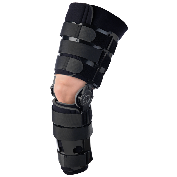 Post-Op with Shells Knee Brace